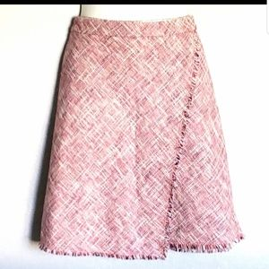 Banana Republic frayed hem skirt size 14